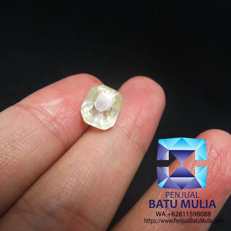 Batu Natural padparadscha sapphire 1.03ct Sertifikat SKY LAB