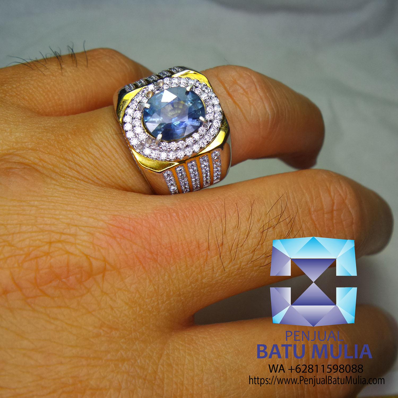 Blue Sapphire Cornflower UNHeat Sertifikat 3.44 ct